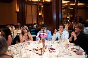 Kids texting at wedding
